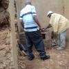 bouw van vaste stoof in annex van landbouwershuisje